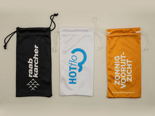soft microfiber glasses pouch with printing D112