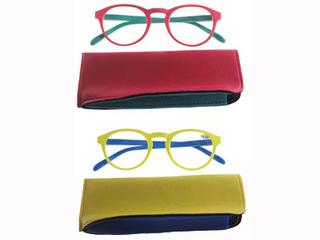 F173 Colourful Side strip reading glasses pouch