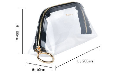 Korean version of the transparent tpu cosmetic bag zipper stereo waterproof cosmetic bag Handheld large-capacity sewing travel jelly package