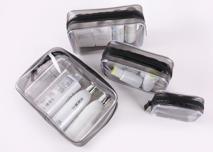 PVC cosmetic bag transparent waterproof 2019 new large-capacity portable travel separate toilet bag