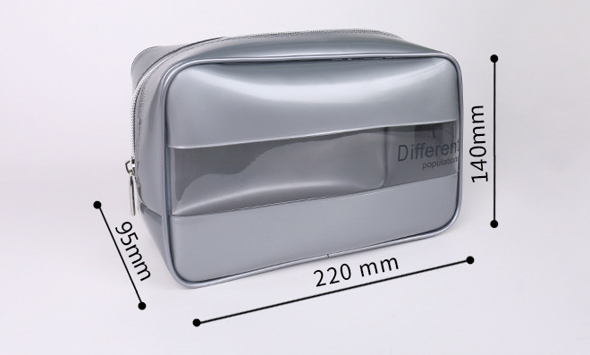 Large capacity traveling bag digital splicing stereo waterproof PVC cosmetic bag transparent hand men's wash bag