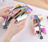 Laser tpu cosmetic bag set travel waterproof cosmetic bag environmental protection multi-function fashion folding zipper storage bag