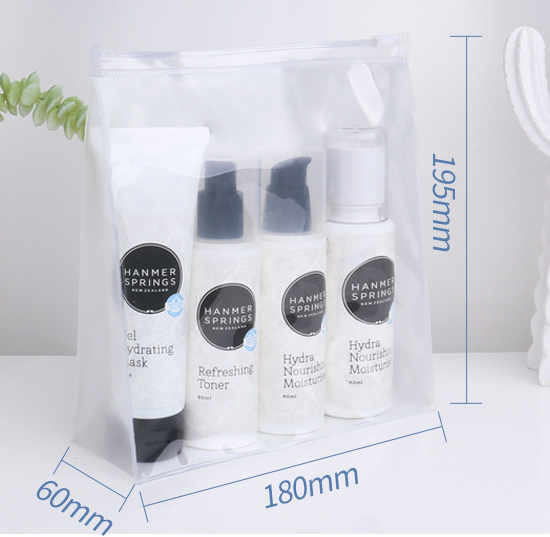 Simple waterproof pvc zipper bag spot high frequency hot pressing transparent pvc bag environmental protection gift cosmetic packaging bag
