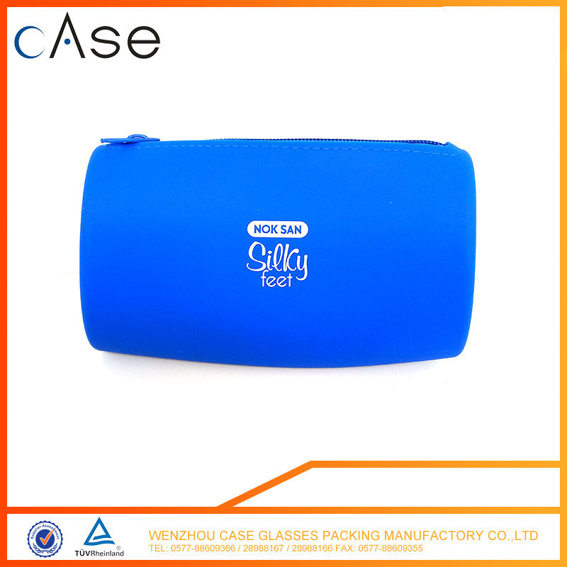 Slim silicone sunglasses case with zipper