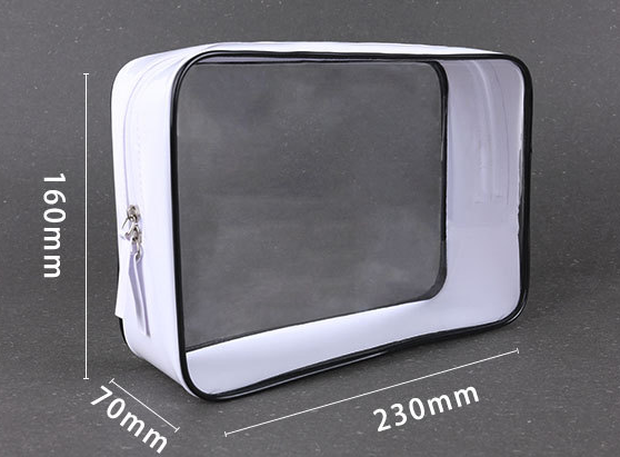 PVC cosmetics bag transparent waterproof PVC bag stereoscopic cosmetics gift bag portable travel receipt bag