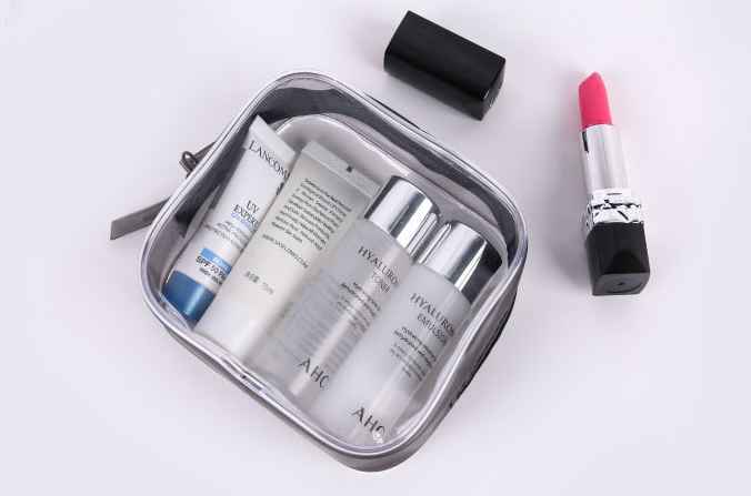 Pvc zipper bag stereo transparent plastic bag daily necessities waterproof storage bag