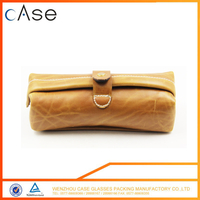 2017 Wenzhou Brown zipper designer soft sunglass cases