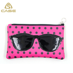 2017 Fashion zipper sunglasses bag LB73