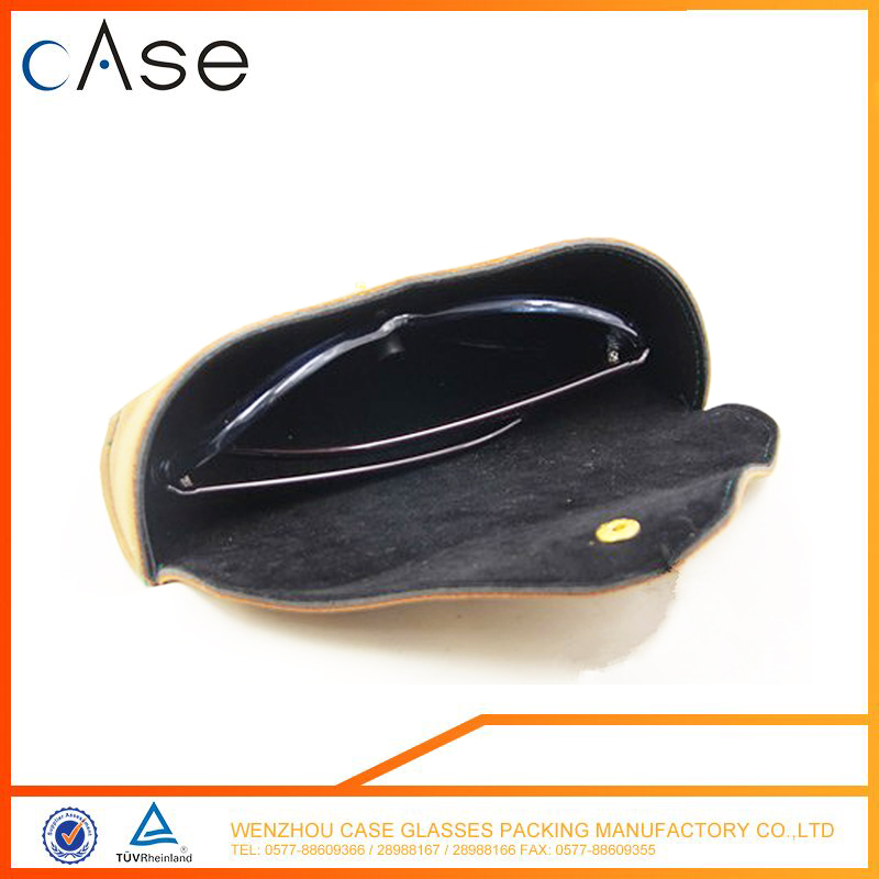 WZ PU Sandwich spectacle-case for sunglasses wholesale eyeglass CASE