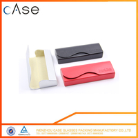 Eco-friendly pu handmade spectators glasses case box for sunglasses