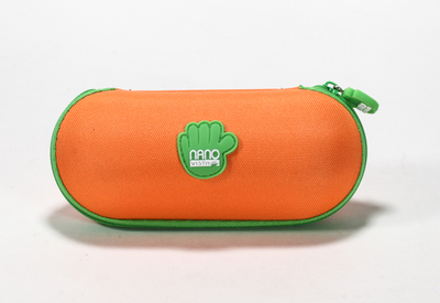 2021 sunglasses, orange, zip-end case