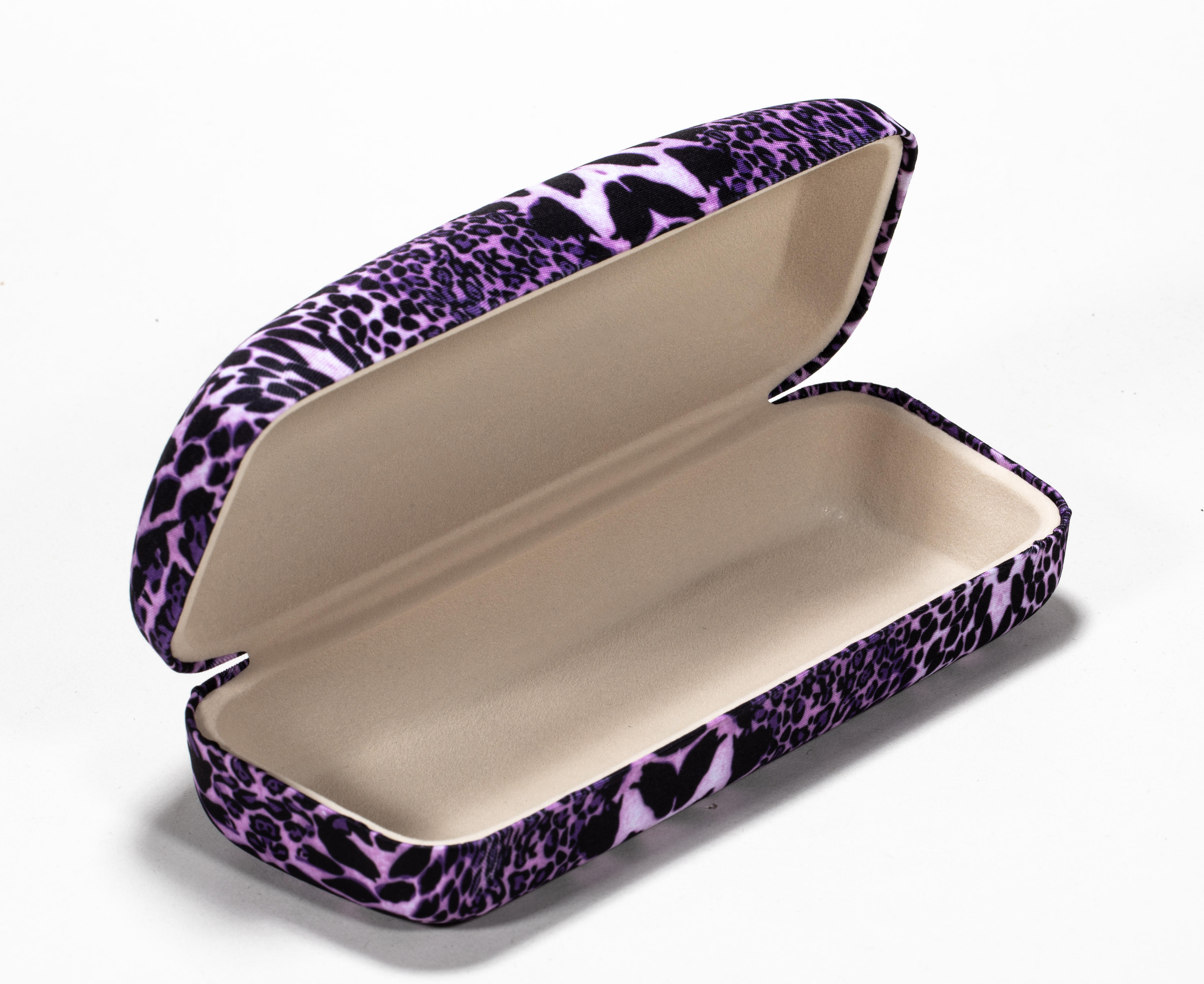 2021 glasses box iron box purple leopard print texture comfortable