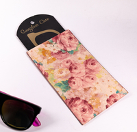 2021 Sunglasses Pouch with A Fleshy Pink Peony Flower Pattern