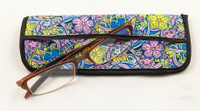 2021 Sunglasses, Printed with Colorful Prints, Hand-woven Leather Glasses Bag