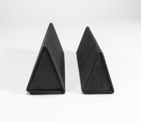 2021 Sunglasses, Black, Triangular, Handmade Case
