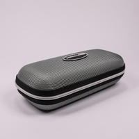 2021 Glasses Case Sunglasses Gray, Printed with The LOGO, Zip Type Glasses Case