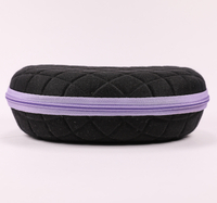 2021 Glasses Case Sunglasses Black Mesh Line Pattern, Zip Type Glasses Case,