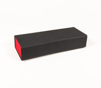 2021 sunglasses, black on the outside and red on the inside, detachable, square, hand-made glasses case