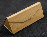2021 Sunglasses, Khaki Wood Grain, Triangular Appearance, Detachable Handmade Glasses Case