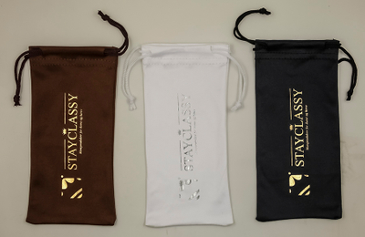 Eyeglass Bags in Three Colors in 2021, with A Pocket Printed with LOGO