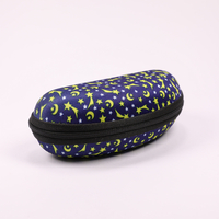 2021 Glasses Case A Zip-on, Cool-hued Sunglasses Case Printed with The Moon And Stars,