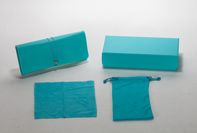 2021 Sunglasses, Cyan Blue Case with Soft Case, Wipe Cloth And Pocket