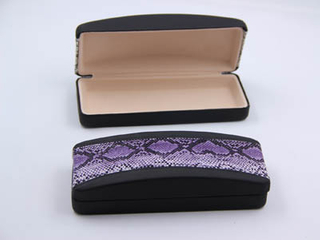 I57 Metal optical glasses case with the popular leather