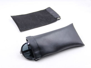 Leather spring glasses pouch/spring bag D97