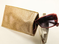 Paint edge sunglasses bag with leaf spring D158